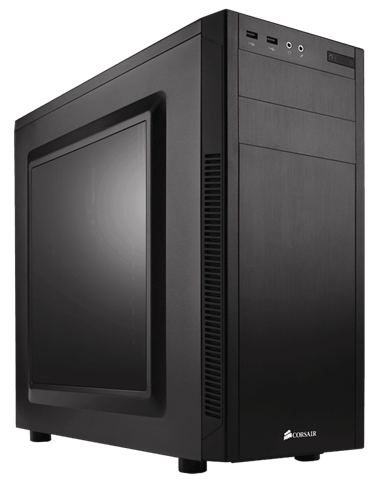 corsair atx carbide 100r case black pn cc-9011075-ww with window