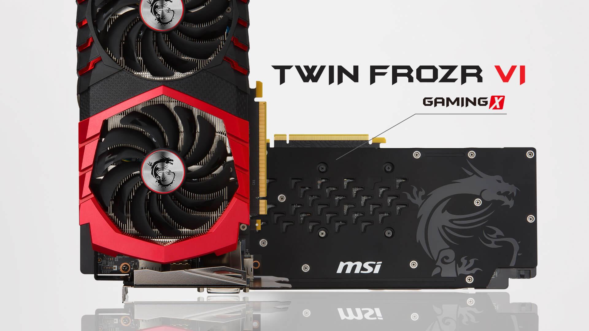 MSI GTX1060 6GB Gaming X Video Card PN GTX 1060 GAMING X 6G