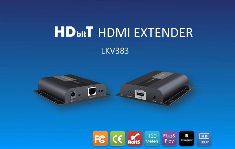 Lenkeng HDbitT HDMI extender over LAN 1080p up to 120M with