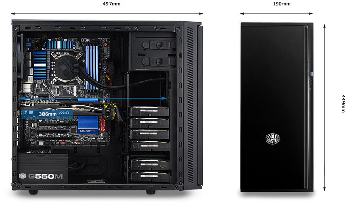 cooler master atx silencio 452 case with usb 30
