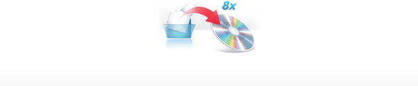 8x DVD-R Writing Speed