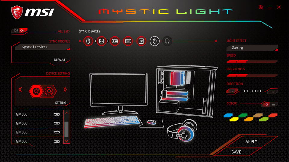 Mystic Light sync