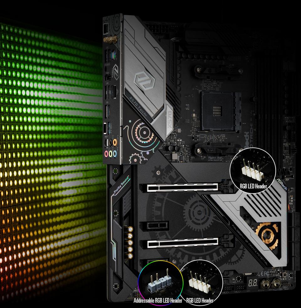 Asrock AM4 ATX X570 TAICHI DDR4 Motherboard   Computer Alliance