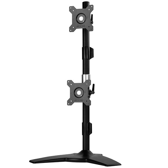 silverstone arm24bs vertical dual lcd monitor desk stand support up to 24 lcd monitor
