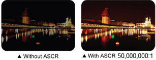 ASCR(ASUS Smart Contrast Ratio) 50,000,000:1 creates sharper and brighter images