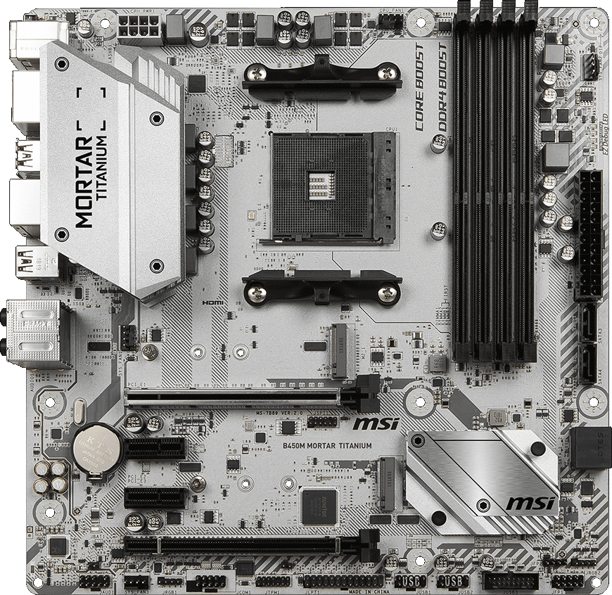 MSI AM4 MicroATX B450M MORTAR TITANIUM DDR4 Motherboard | Computer