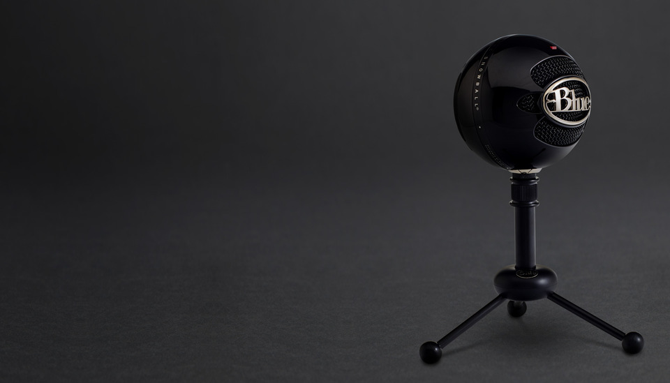 blue snowball black usb microphone 836213001912 computer alliance. Black Bedroom Furniture Sets. Home Design Ideas