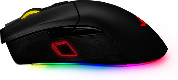 asus wired rog gladius ii rgb usb gaming mouse