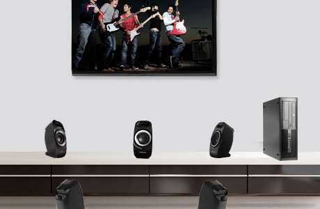 Enjoy multi-channel cinematic sound