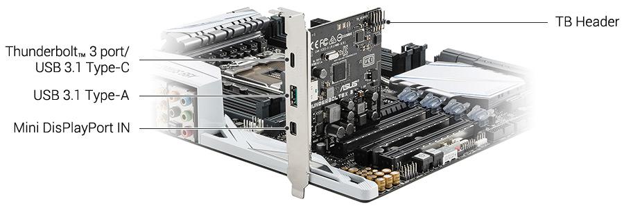 ASUS Thunderbolt 3 Card PCIe x4 Single Port PN THUNDERBOLTEX