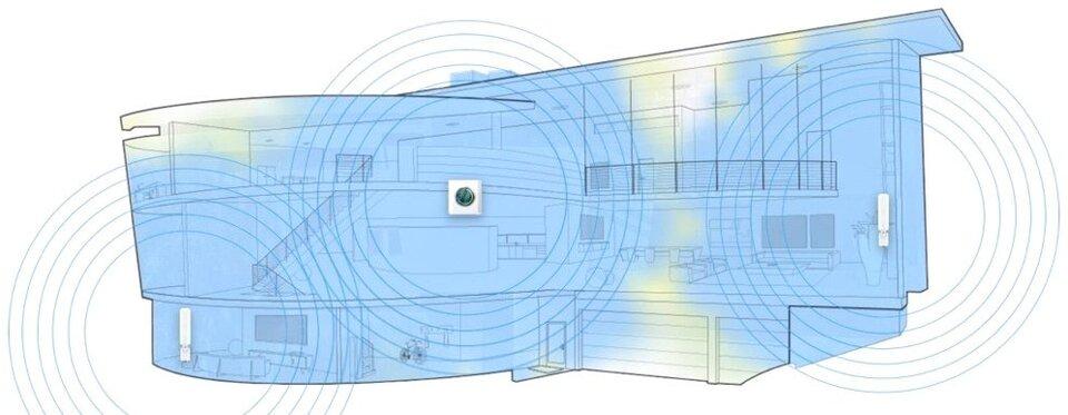 ubiquiti amplifi hd mesh point - wi-fi extender afi-p-hd