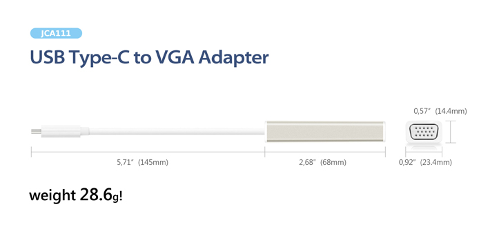 j5create jca111 usb 31 type c to vga adapter