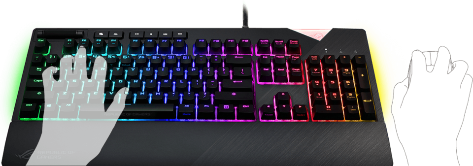 asus usb rog strix flarebrn cherry brown mx rgb mechanical keyboard