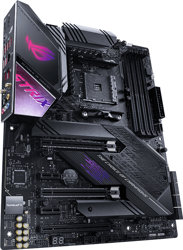 asus am4 atx rog strix x570-e gaming ddr4 motherboard