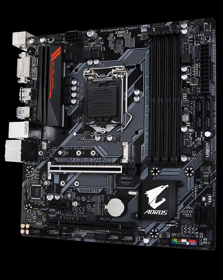 Gigabyte S1151 MicroATX GA-B360M-AORUS-Gaming-3 DDR4 Motherboard