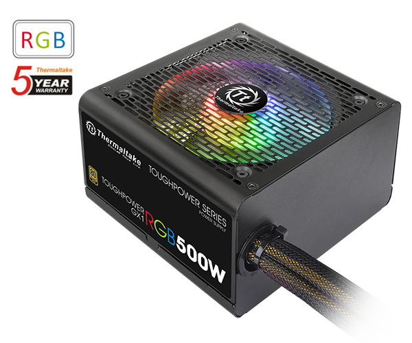 500 watt thermaltake toughpower gx1 rgb power supply ps-tpd-0500nhfaga-1