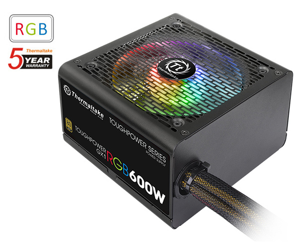 600 watt thermaltake toughpower gx1 rgb power supply ps-tpd-0600nhfaga-1