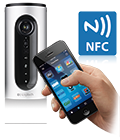 Connect, handheld device, NFC logo