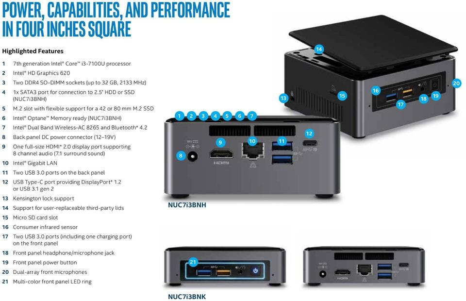 Product Brief: Intel® NUC Kits NUC7i3BNK and NUC7i3BNH