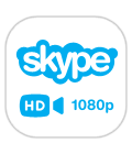 Full HD 1080p video calling on Skype®