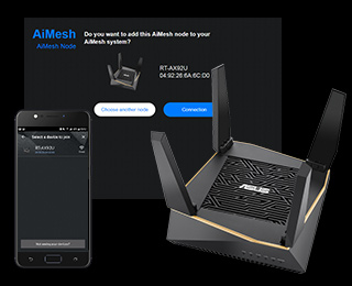 2 pack asus rt-ax92u aimesh tri-band wireless-ax6100 mesh system