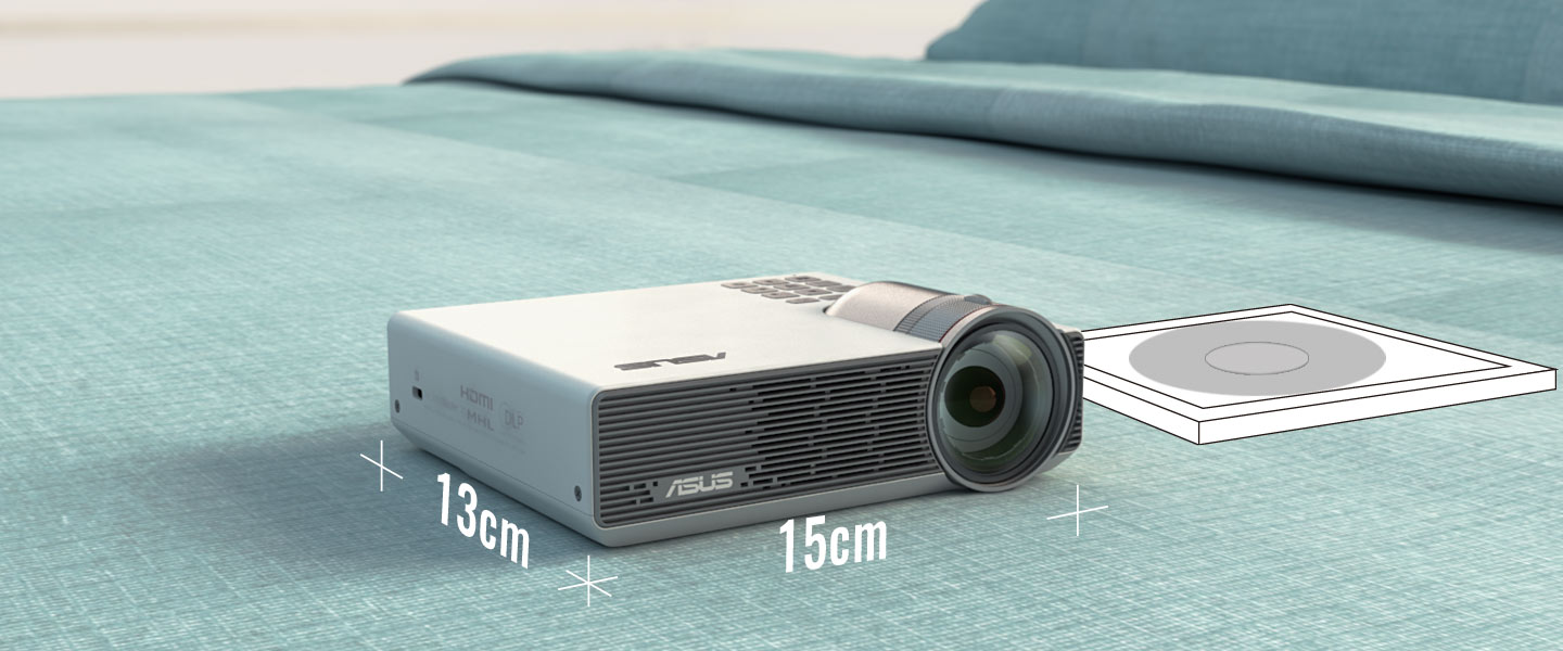 asus p3b 800 ansi led dlp portable projector