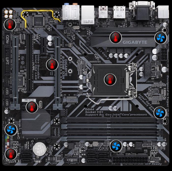 Gigabyte S1151 MicroATX GA-B360M-D3H DDR4 Motherboard
