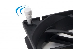 Silicone anti-vibrations mounts are supplied