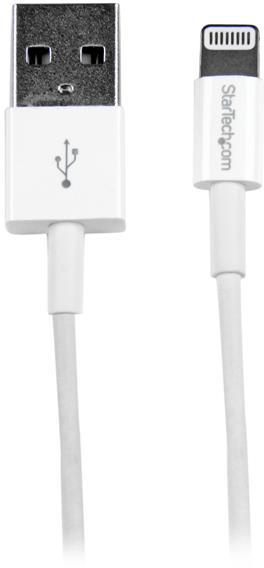 StarTech 1m (3ft) White Apple 8-pin Slim Lightning Connector to USB Cable for iPhone / iPod / iPad