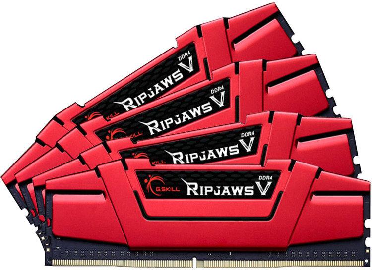 32GB DDR4 G.Skill F4-2400C15Q-32GVR (4x8G) 2400Mhz Ripjaws V RAM