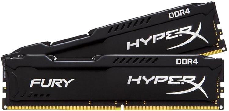 New Kingston Technology 8GB HyperX Fury Black (4GBx2) Internal Memory