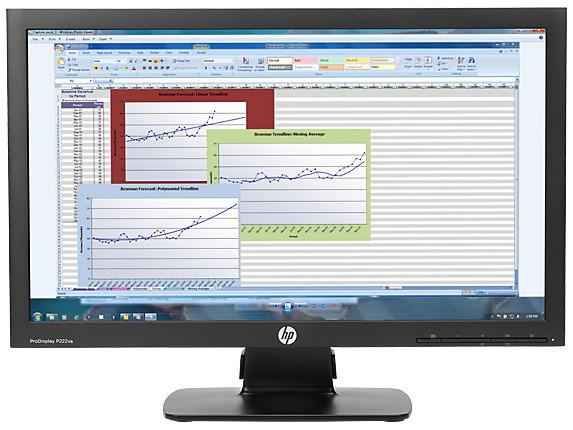 "21.5"" HP P222VA FHD LED Monitor PN K7X30AA"