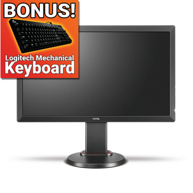 24 Zowie by BenQ RL2460 LED Gaming Monitor with Height Adjust, BONUS Logitech G610 Mechanical Keyboard VALUE 149!