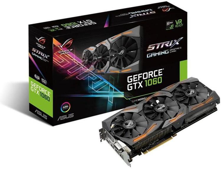 ASUS GTX1060 6GB STRIX PCIe Video Card PN STRIX-GTX1060-6G-GAMING