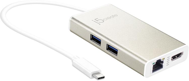 j5create JCA374 USB 3.1 Type C Multi Adapter (HDMI/LAN/USB)