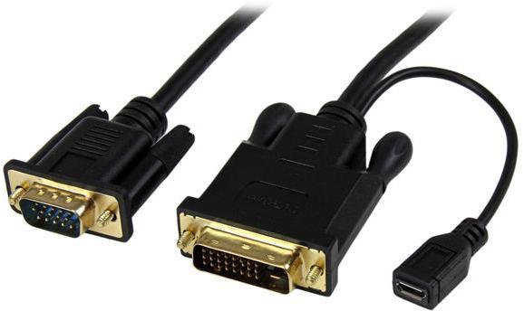Startech Dvi D To Vga Active Adapter Converter Cable Black: StarTech 10 ft DVI to VGA Active Converter Cable DVI-D to VGA rh:computeralliance.com.au,Design