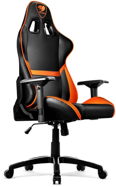 Cougar Armor Gaming Chair Black Amp Orange With Neck Lumbar