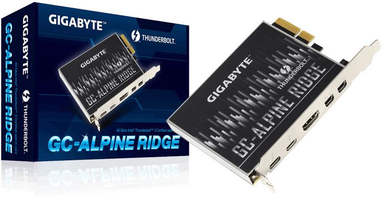 Gigabyte Alpine Ridge PCIe Dual Thunderbolt 3 Card