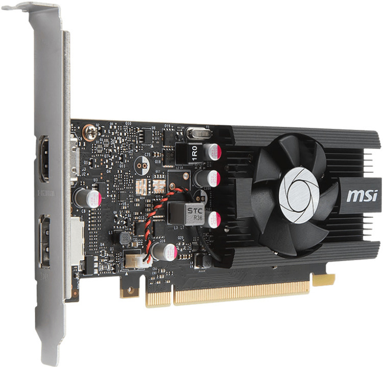 MSI GT1030 2GB OC Low Profile PCIe Video Card PN GT 1030 2G