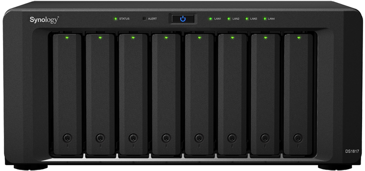 8 Bay Synology DS1817 4GB DiskStation Scalable Gigabit NAS