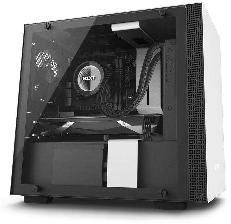 Nzxt Mini Itx White H200i Smart Gaming Sff Case No Psu