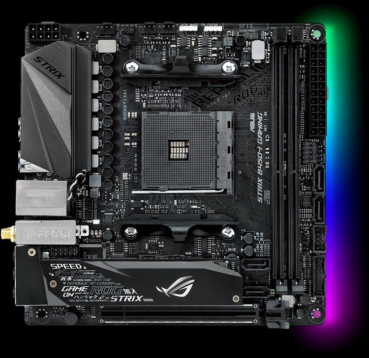 Asus Am4 Mini Itx Rog Strix B450 I Gaming Ddr4 Motherboard