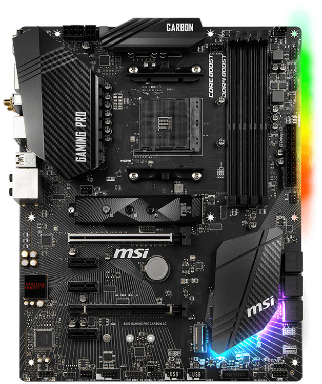 MSI AM4 ATX B450 GAMING PRO CARBON AC DDR4 Motherboard | Computer