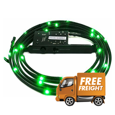 1 Meter NZXT Sleeved LED Green Kit PN CB-LED10-GR, + Chance to WIN RTX3080Ti!