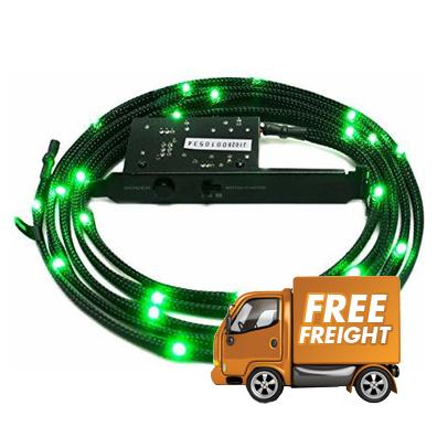 1 Meter NZXT Sleeved LED Green Kit PN CB-LED10-GR
