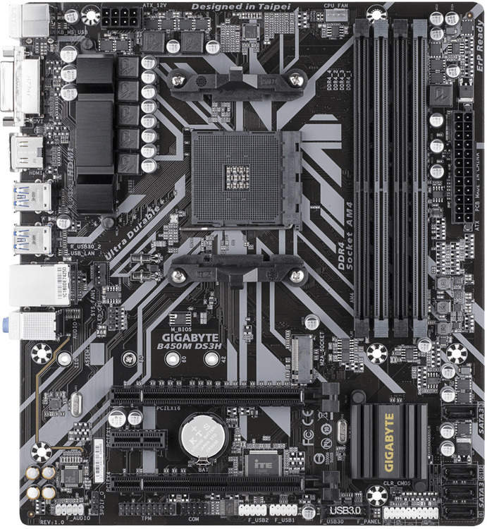 Gigabyte AM4 MicroATX B450M DS3H DDR4 Motherboard | Computer