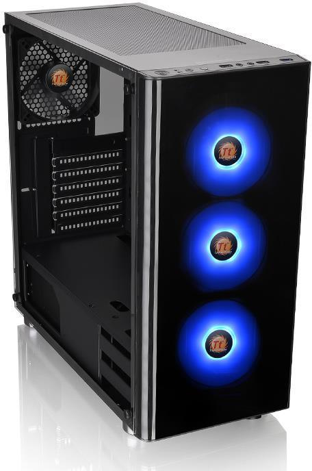 Thermaltake Atx V200 Tg Rgb Case Black With 500w Psu Pn Ca