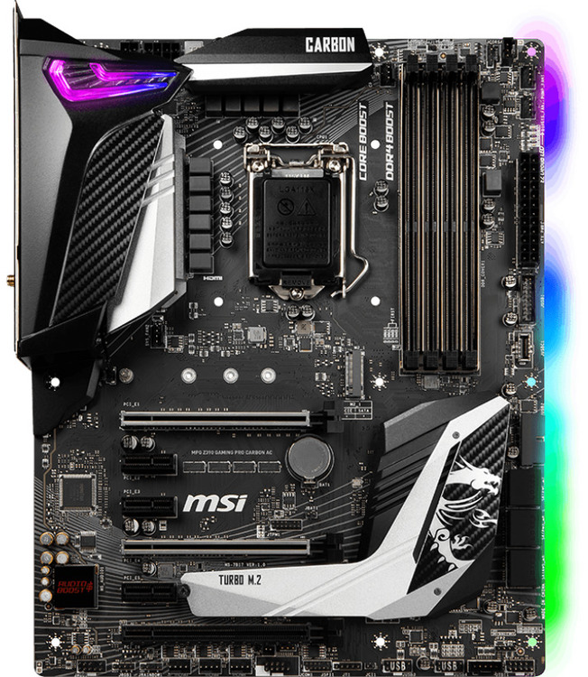 Msi S1151 Atx Mpg Z390 Gaming Pro Carbon Ac Ddr4
