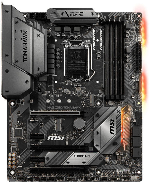 MSI S1151 ATX MAG Z390 TOMAHAWK DDR4 Motherboard   Computer