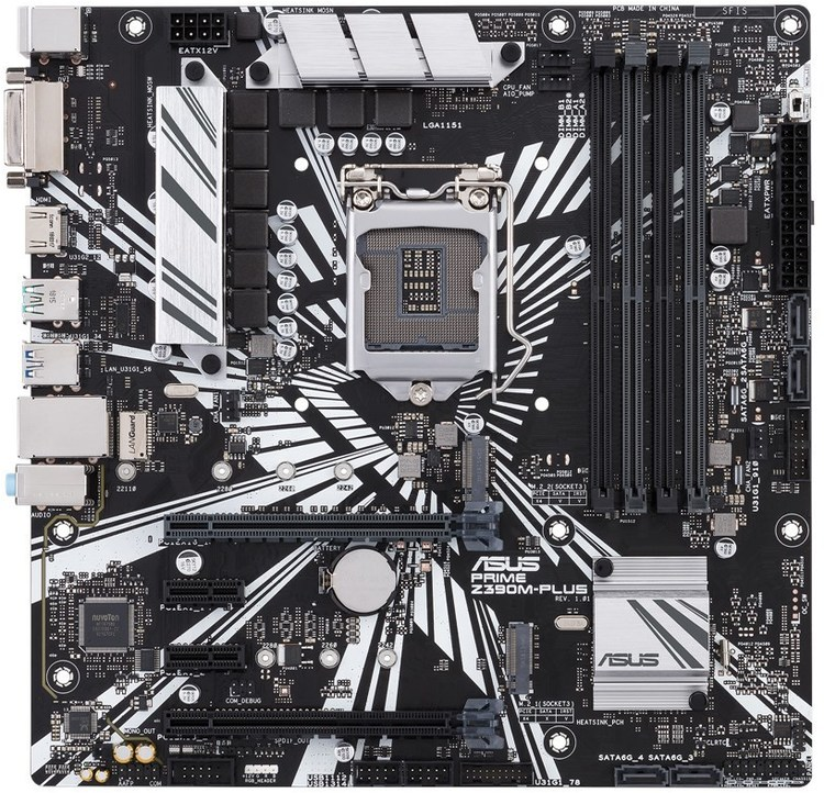 ASUS S1151 MicroATX PRIME Z390M-PLUS DDR4 Motherboard | Computer